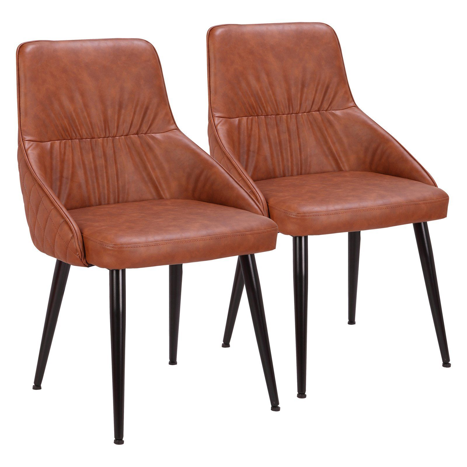 Lumisource Alden Faux Leather Dining Accent Side Chair Set Of 2