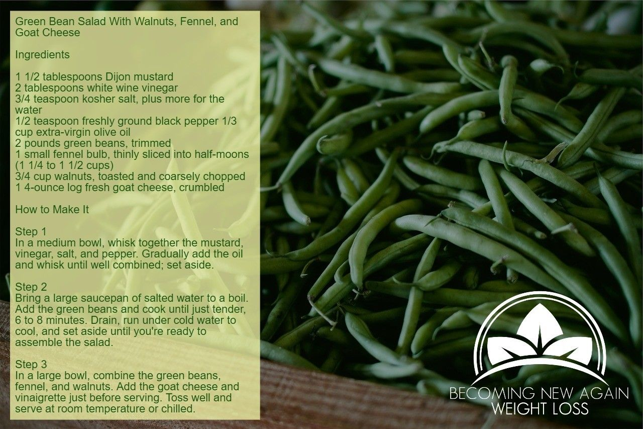 Phase 3 Recipe Green Bean Salad With Walnuts, Fennel, and