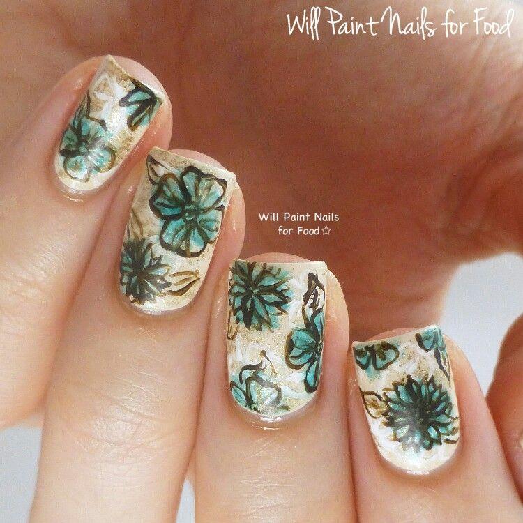 Beautiful floral nail art designs