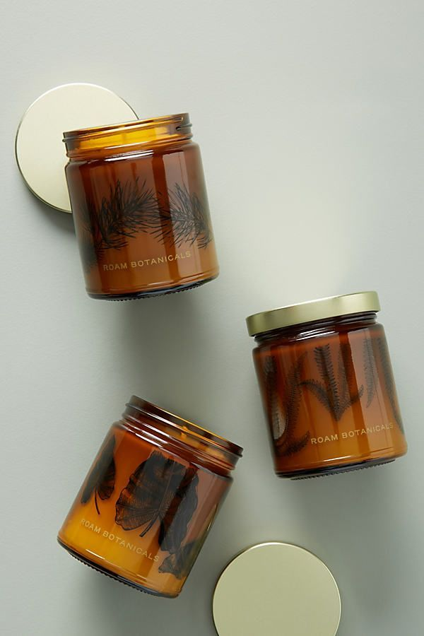 Photo of Roam Botanicals Jar Candle by in Brown, Candles at Anthropologie Candle jars Mas…