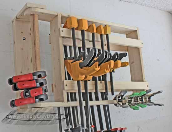 Simply Easy Diy Diy Clamp Rack Wall Mounted Swing Out