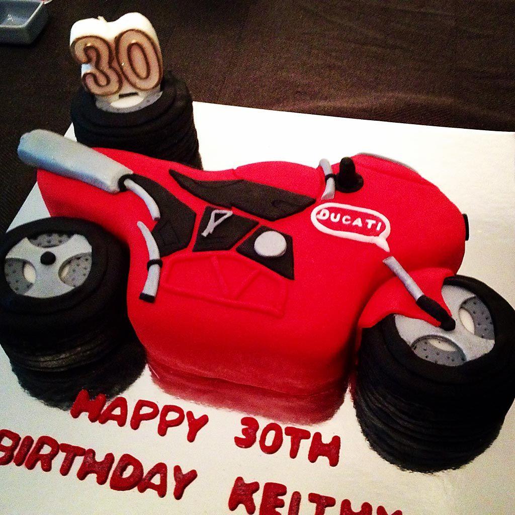 Ducati Motorbike Cake Motivtorten Geburtstag