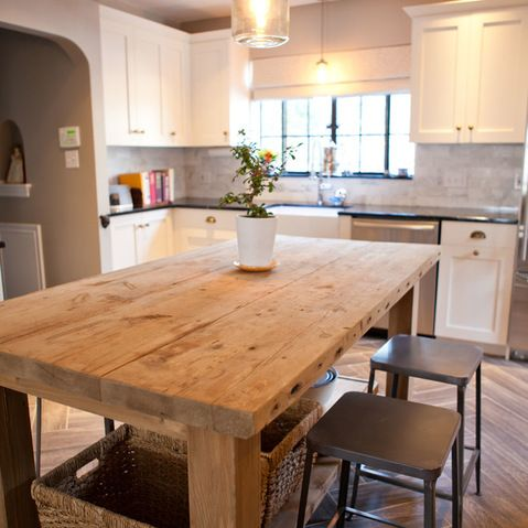 stunning rustic Kitchen Island The Home Pinterest Rustic