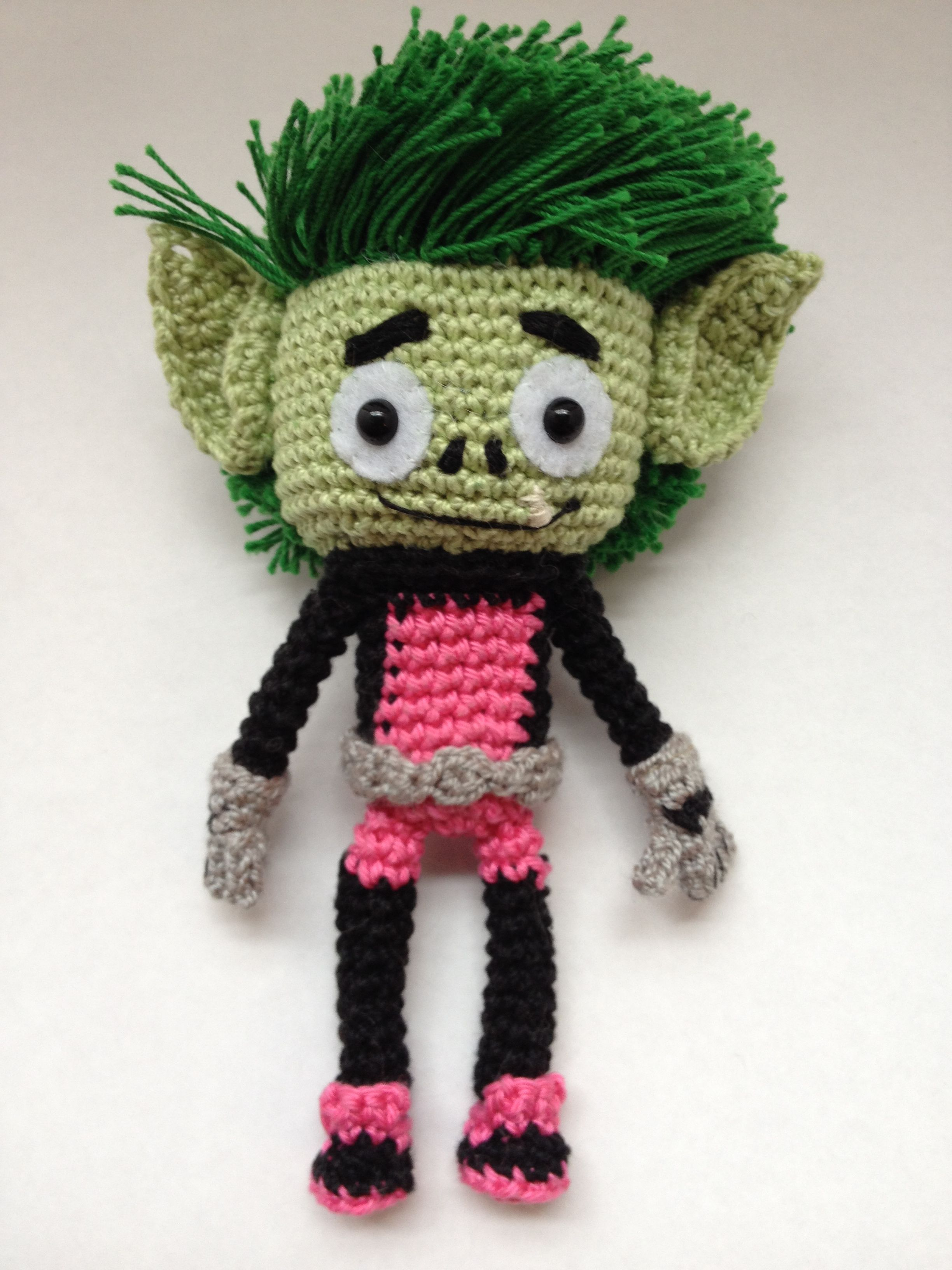 Beast Boy With Images Crochet Crochet Projects Crochet Dolls