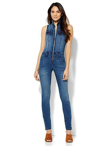 cf416cbf20cc Shop Soho Jeans - Jennifer Hudson Denim Jumpsuit - Southern Blue Wash .  Find your perfect size online at the best price at New York   Company.