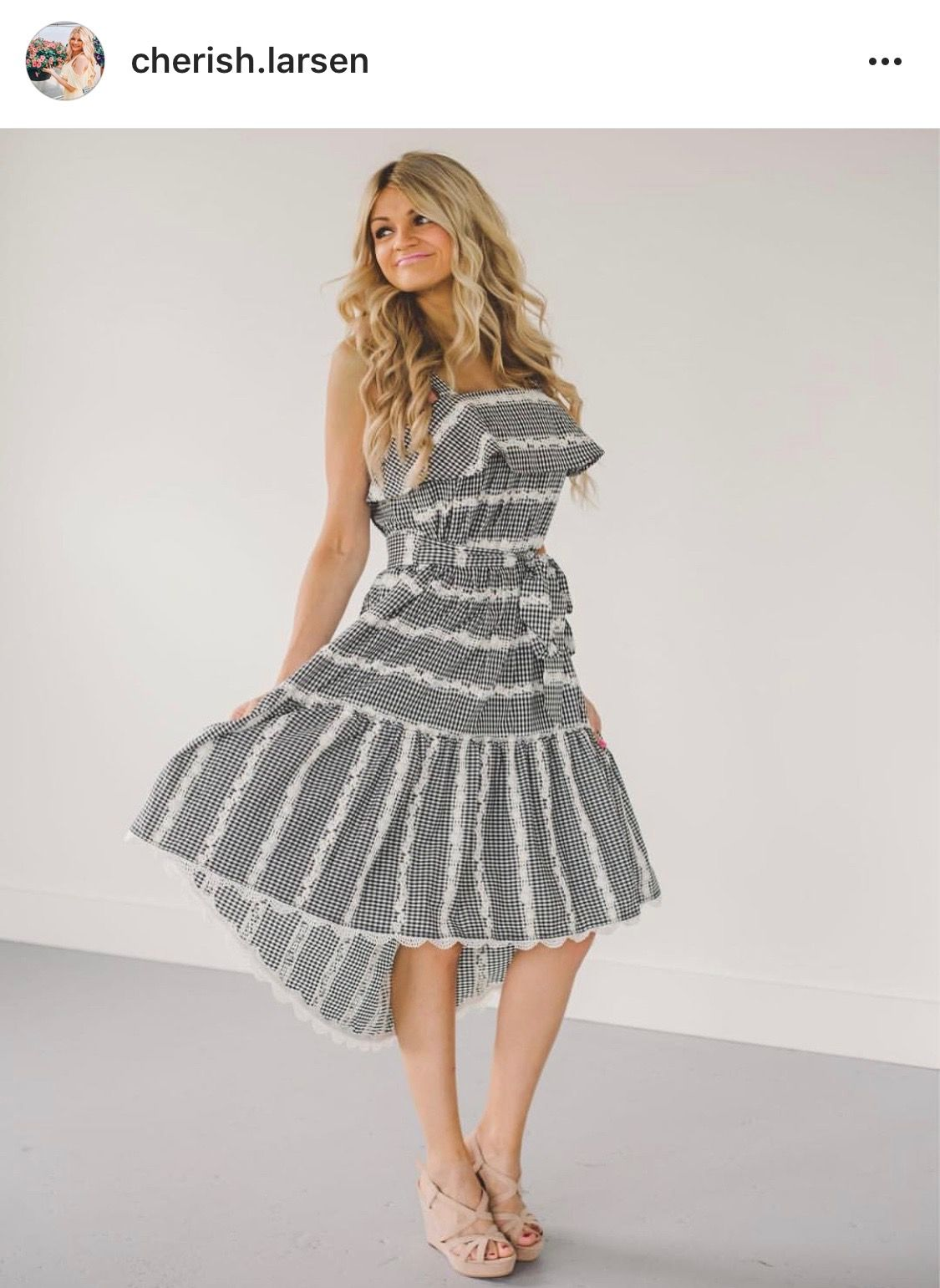 9e6e03c9d0f1 Belle Gingham Midi Dress | Adelyn rae's most wanted | Gingham ...