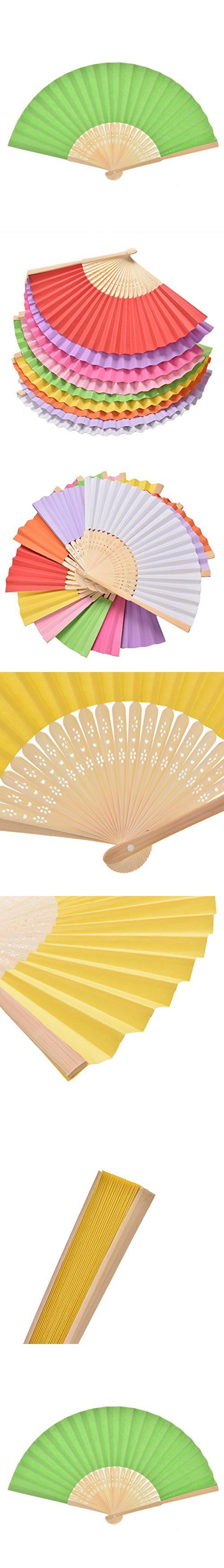 1pcs Chinese Paper Folding Fan Handheld Fan Wedding Party Favor