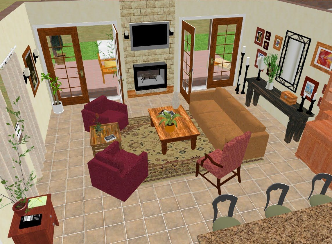 Family room decorating ideas with fireplace designs have you ever used a 2 sided - Recycled interior design ideas ...