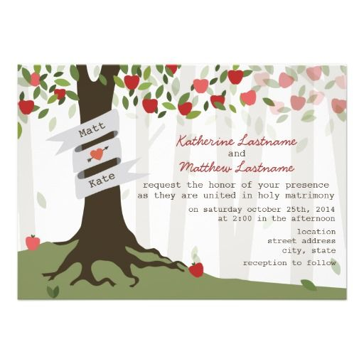Apple Orchard Fall Autumn Wedding Invitation by Jill's Paperie