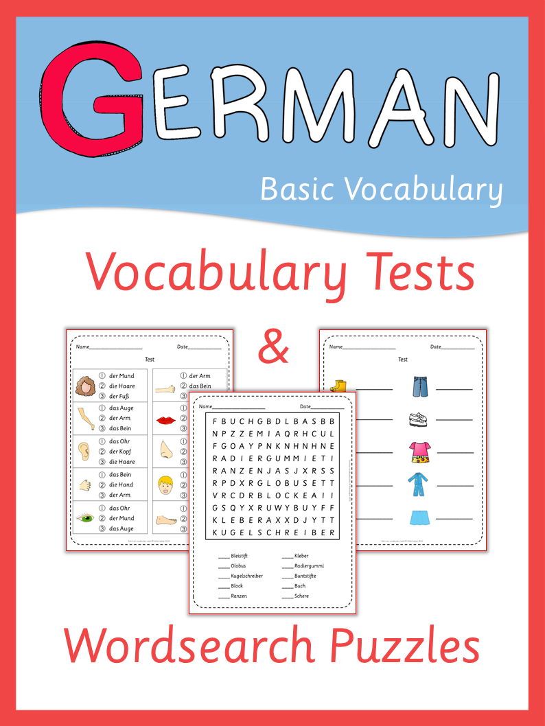 More than 200 pages of german vocabulary tests and wordsearch german grammar kristyandbryce Choice Image
