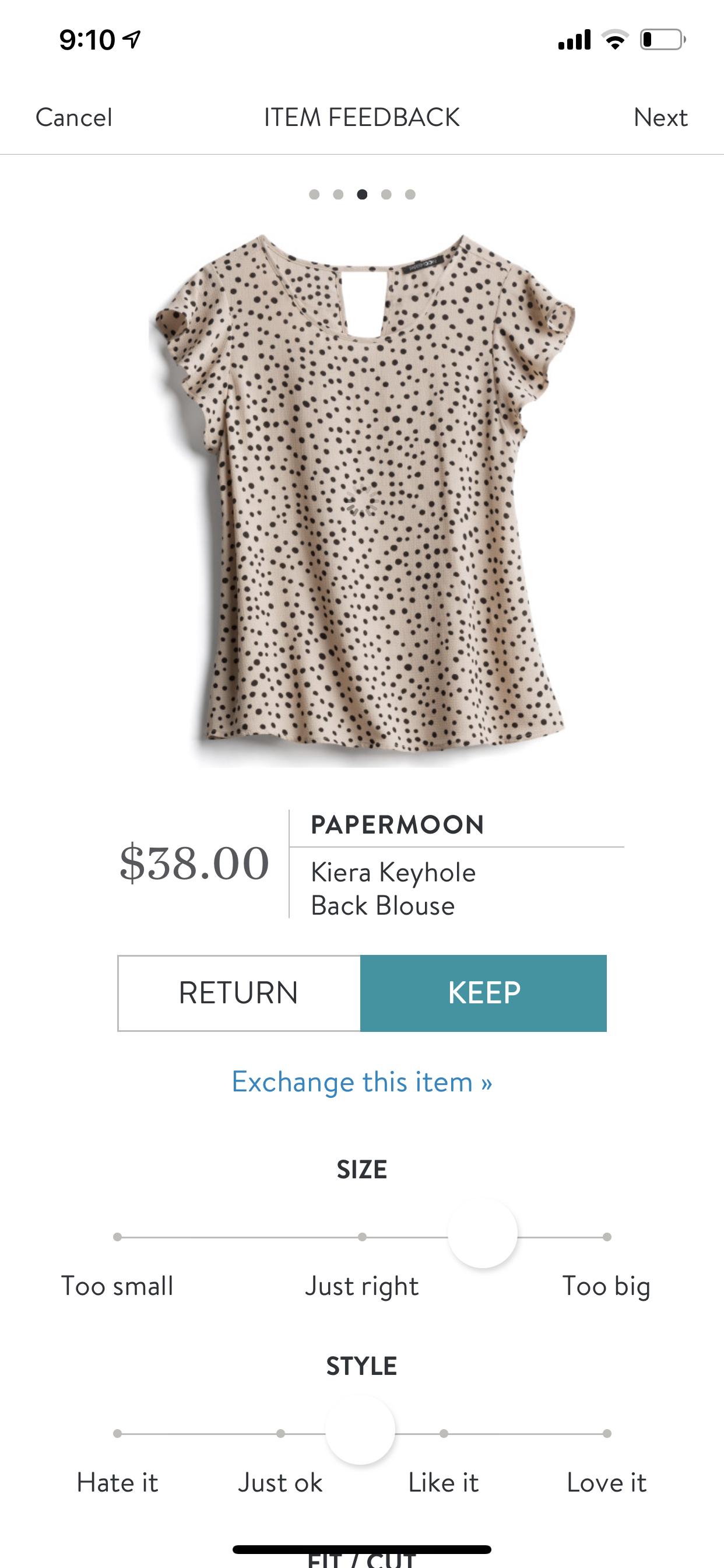 Stitch Fix Papermoon Kiera Keyhole Back Blouse #stitchfix #stitchfixinfluencer #stitchfix