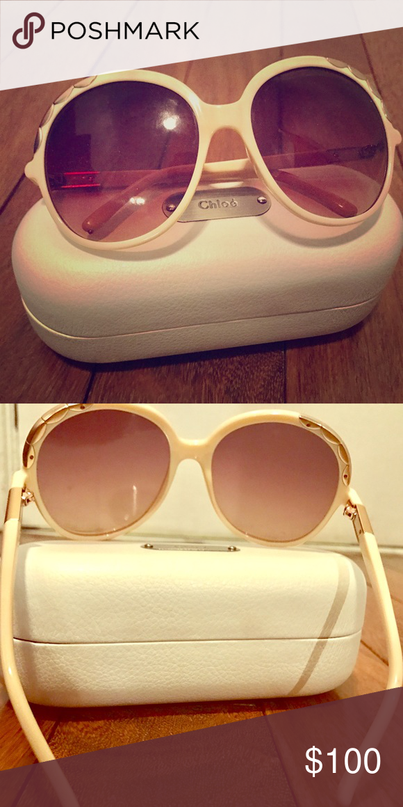 9cdc57c6329c Chloe round oversized sunglasses Round oversized sunglasses with silver  details Chloe Accessories Glasses