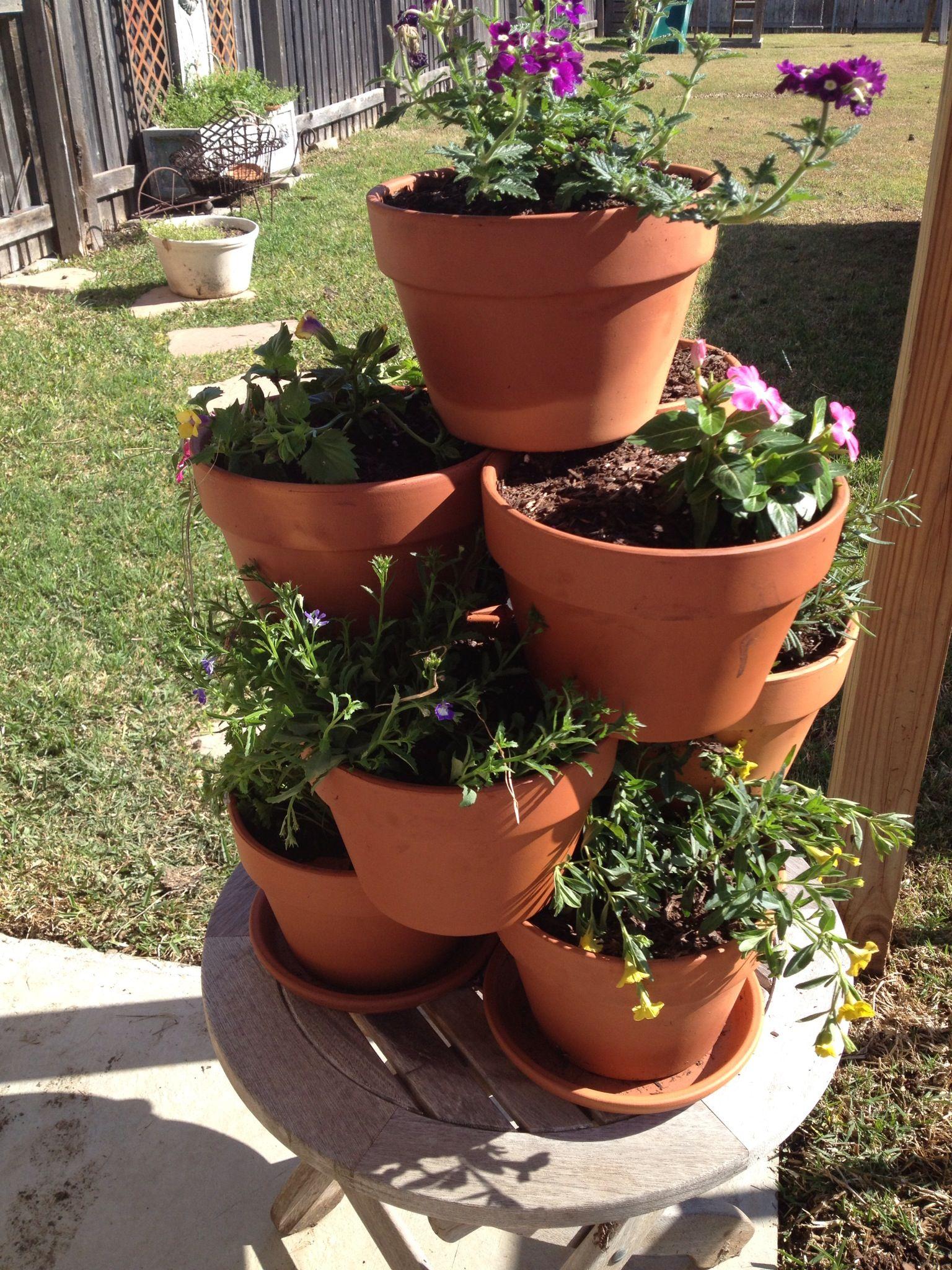 Flower pot tower so simple flower pots diy flower