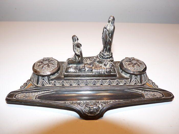 Online veilinghuis Catawiki: Double tank inkstand in bronze