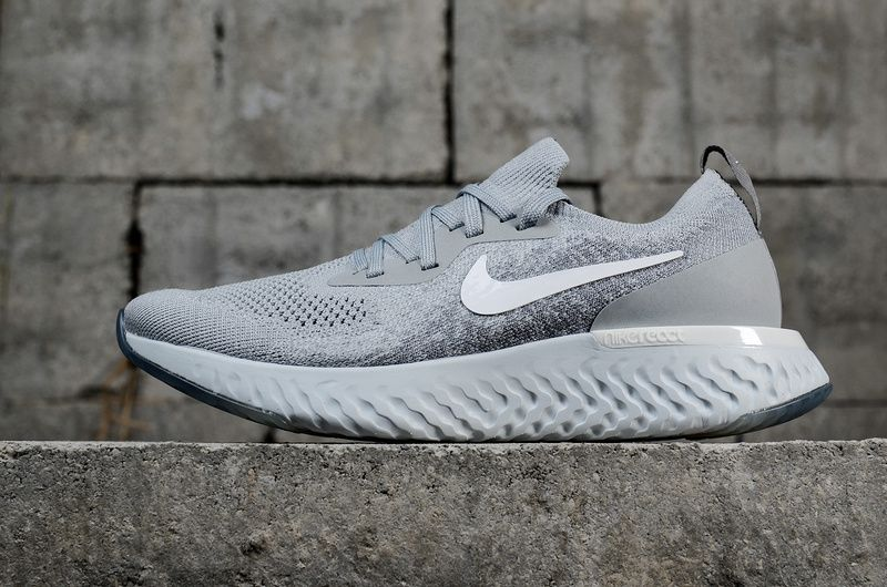 newest collection 7de9b 7bf43 Genuine Unisex Nike Epic React Flyknit Wolf Grey AQ0070-002