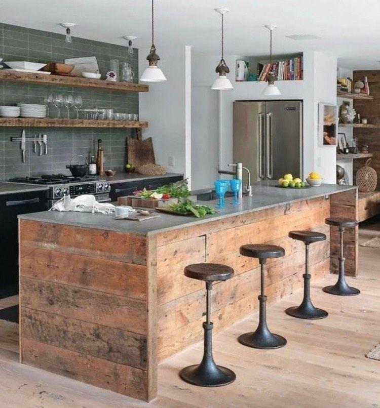 Îlot central en palette – 32 idées DIY pour customiser sa cuisine ...