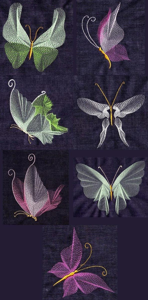 Butterfly Threads Embroidery Machine Design Details