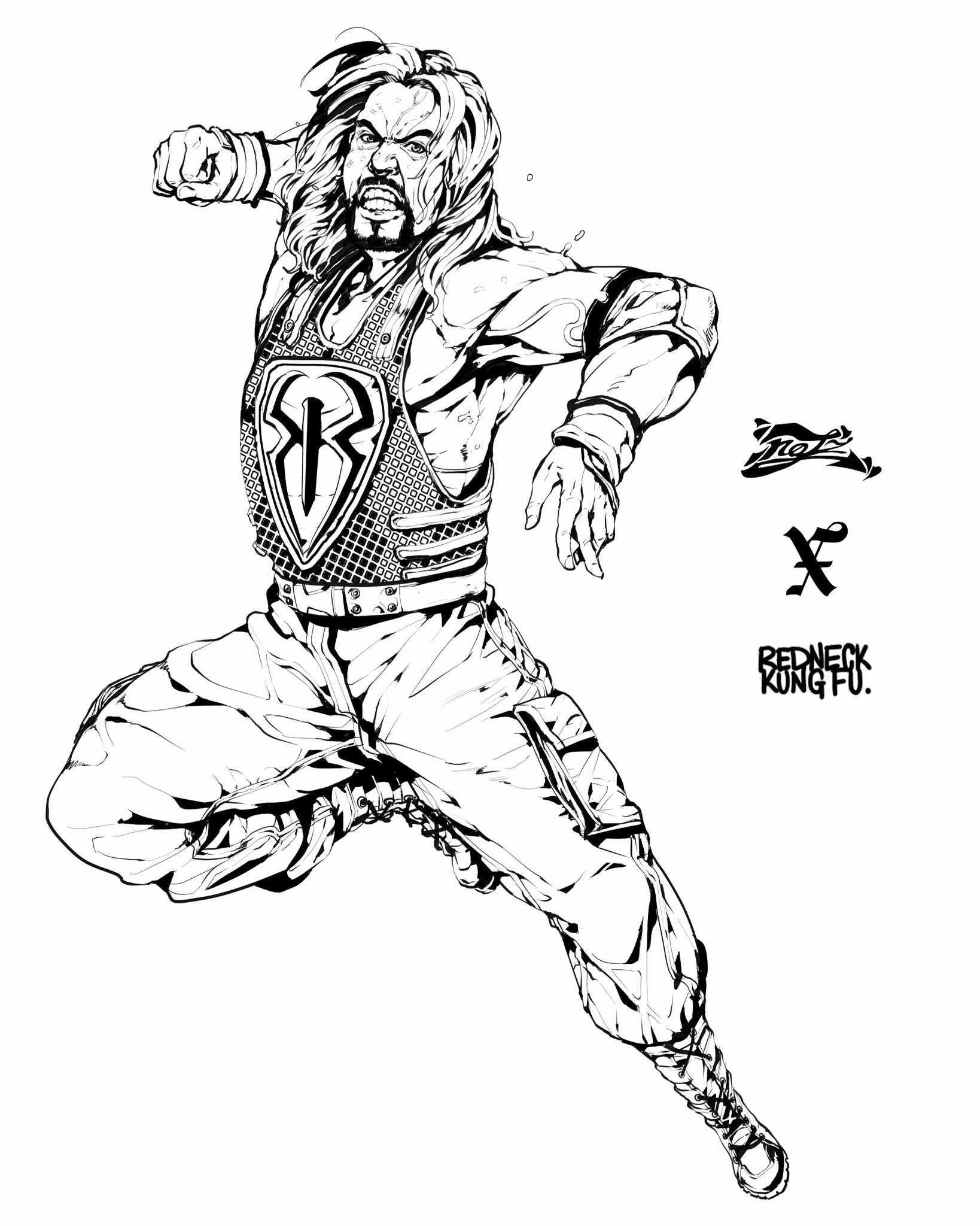 Wwe Coloring Pages Roman Reigns Elegant Notz Ics On