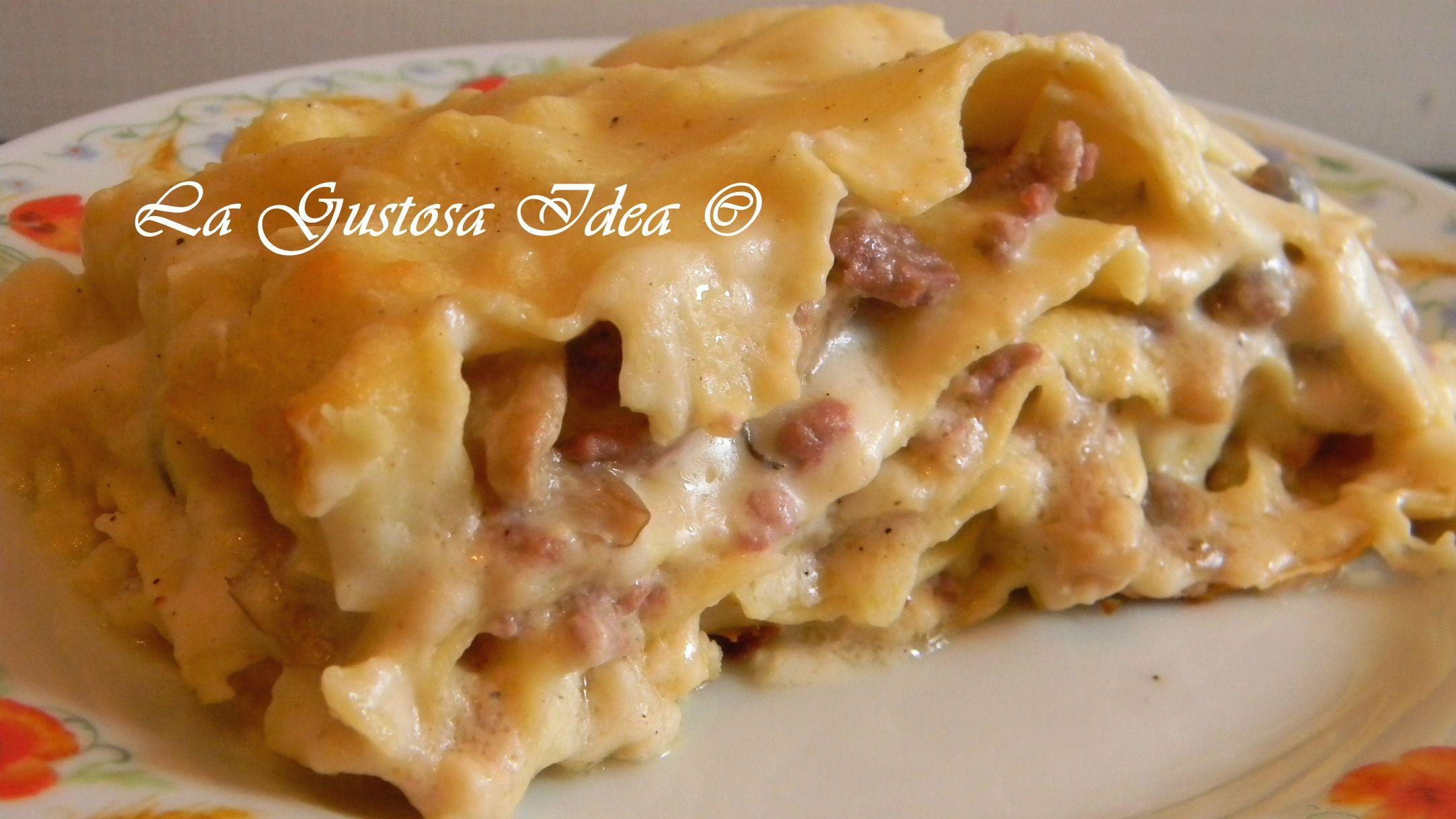 Ricetta Lasagne Funghi E Salsiccia.Lasagna Bianca Con Funghi E Salsiccia La Gustosa Idea Ricette Idee Alimentari Ricette Di Cucina