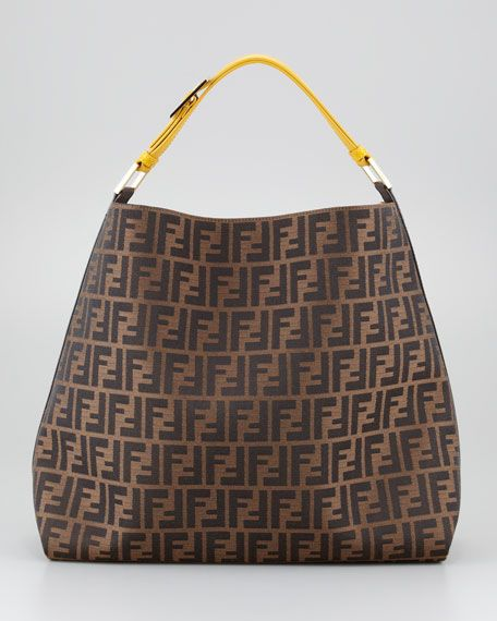 Fendi - Zucca Large Hobo Bag, Tobacco Ochre   My Style   Bags, Fendi ... 6f590a5999
