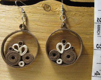 "Brown ""Knit"" Earrings"