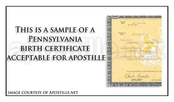 pin by apostille net on state of pennsylvania sample apostille