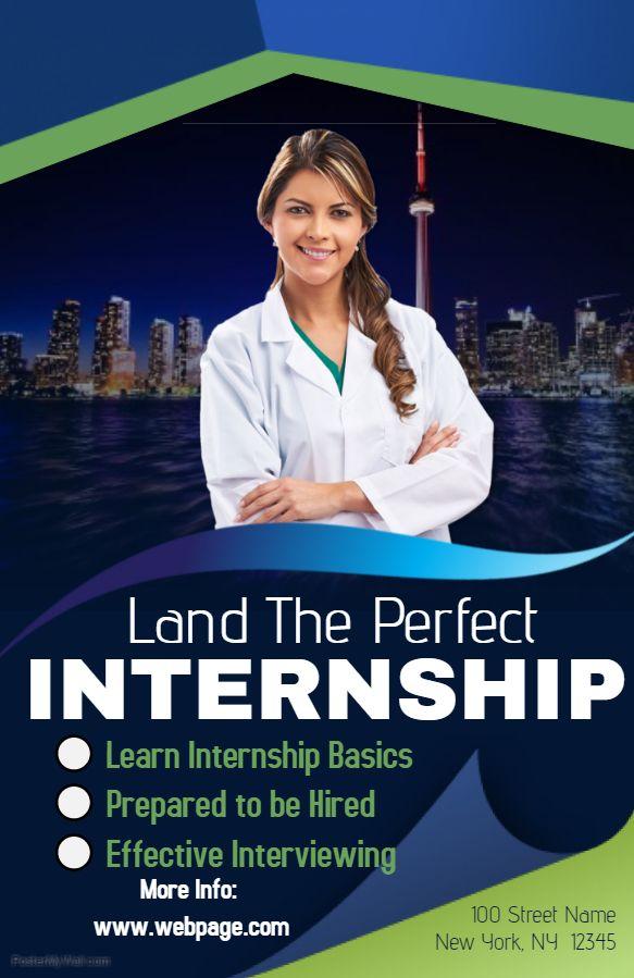 internship poster template | educational poster templates | pinterest, Presentation templates