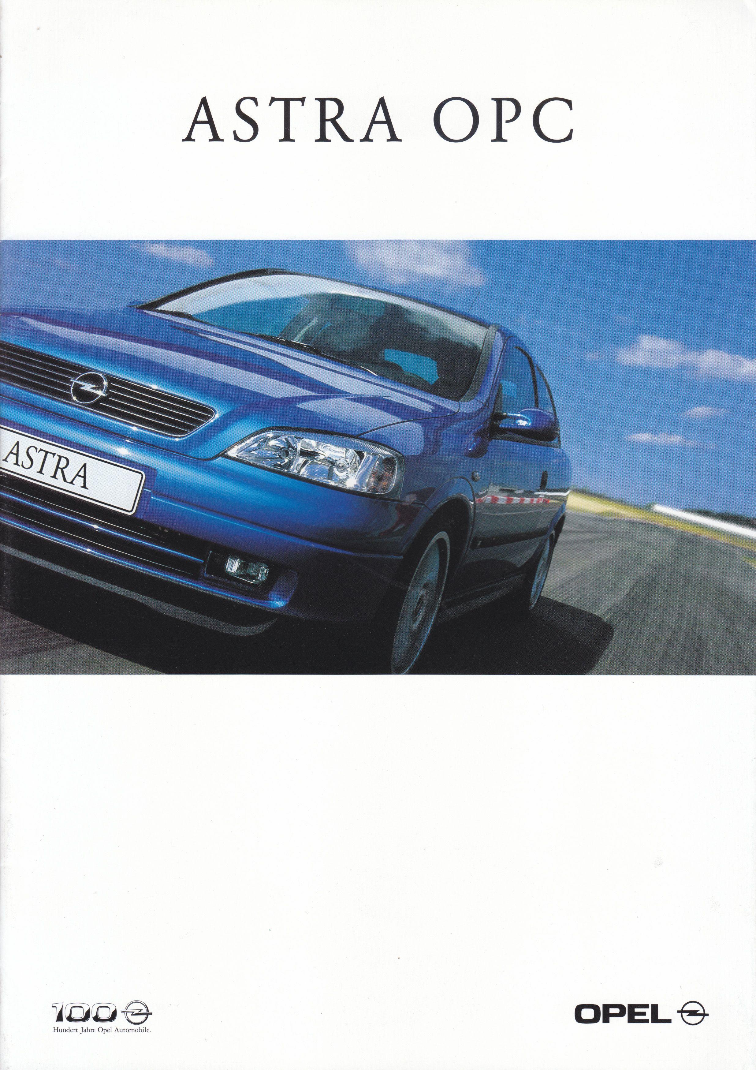 Opel Astra Opc 8 Page Brochure Specs Leaflet 01 1999 German