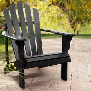 Ordinaire Black Adirondack Chair