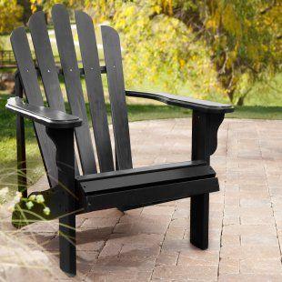 Black Adirondack Chair