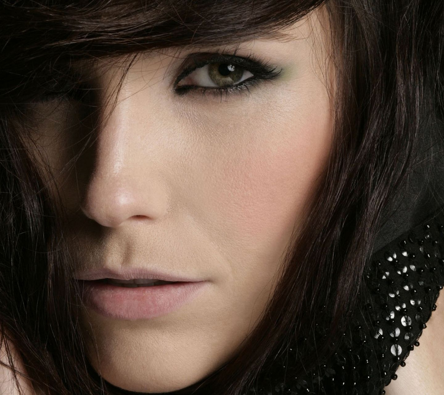 Full View And Download Woman Face Close Up Wallpaper
