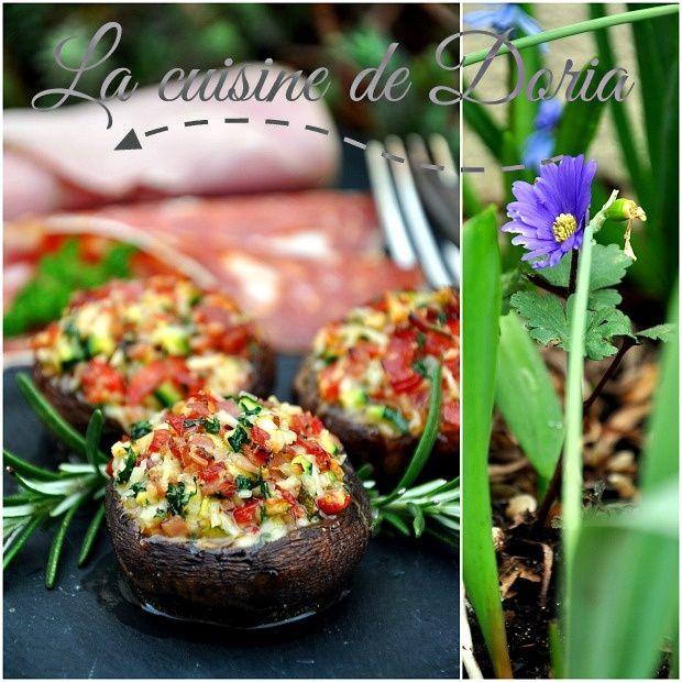 Idée Repas Pour 12 Personnes Champignons farcis de Cyril Lignac   La cuisine de Doria
