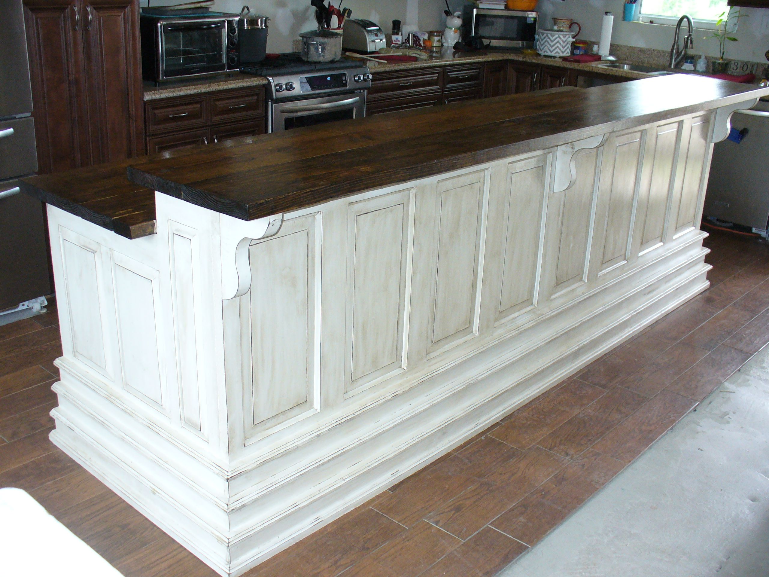 Met With Young Family To Design This 10 Foot Kitchen Island Using Repurposed Doors On The Front Of The Island Diy Kitchen Island Repurposed Kitchen Diy Kitchen
