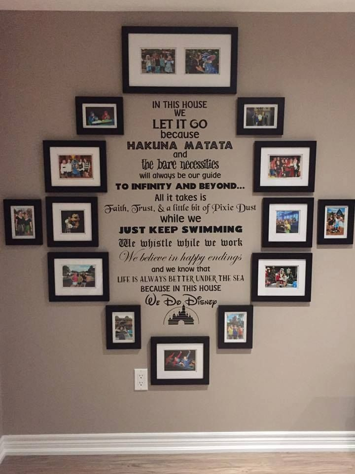 adorable disney wall collage  this would be a great thing