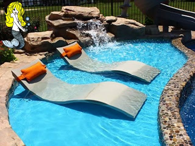 Fiberglass tanning ledges fiberglass pools and spas for Pool design with tanning ledge