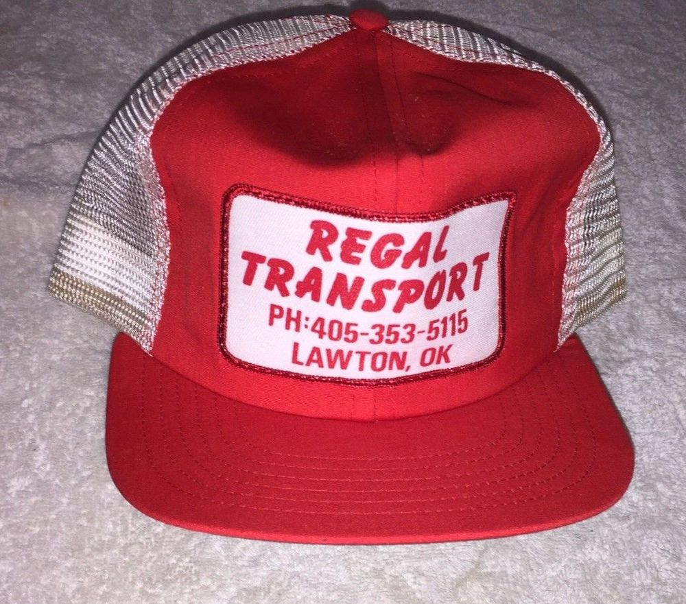 Vintage 80s Patch Snapback Mesh Trucker Hat Transport Co Patch Red  Excellent  Unbranded  TruckerHat e7725b270cca