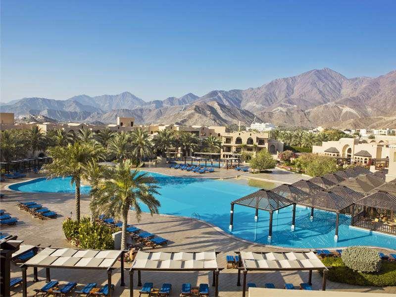 View Of The Pool At Miramar Al Aqah Fujeirah Uae Beach Resorts Miramar Resort