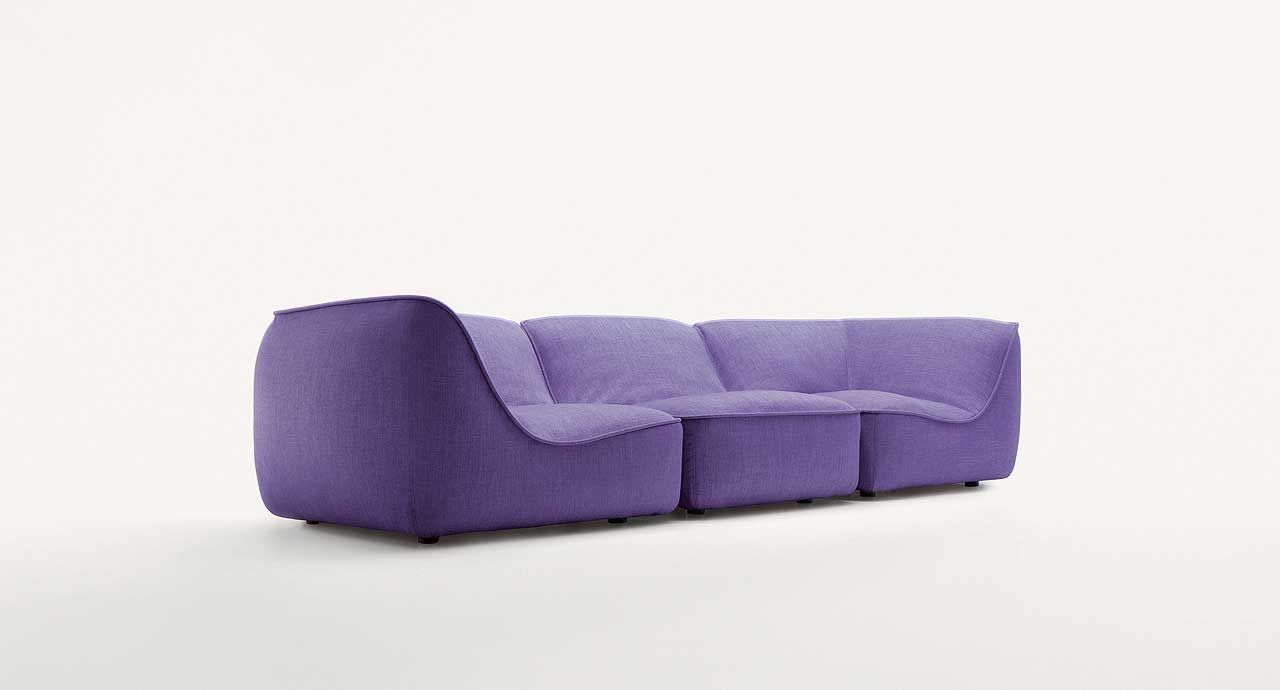 So   Modular Seating System Consisting Of Left, Right, Central Elements,  Chaise Longue