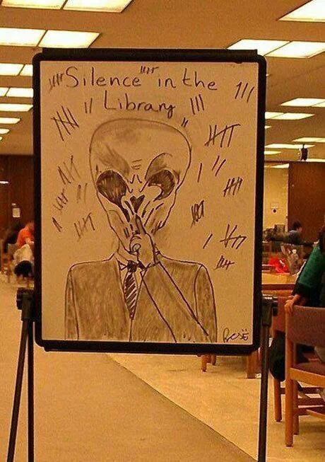 Silence in the library... I LOLed out loud. Doctor Who.