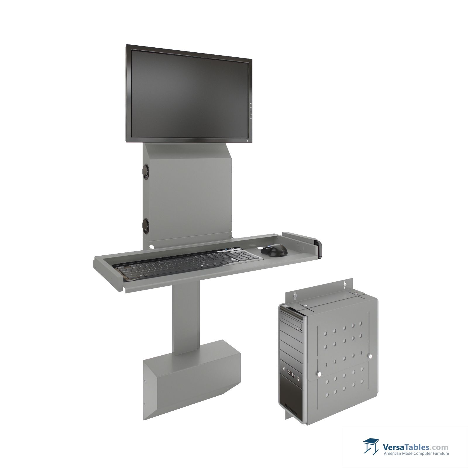 Electroslim Wall Mount Computer Station Eswmcs Series By