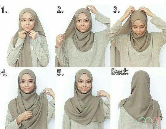 Tutorial Hijab Pashmina Pesta Tanpa Ninja Kerudung Gaya Hijab Kursus Hijab
