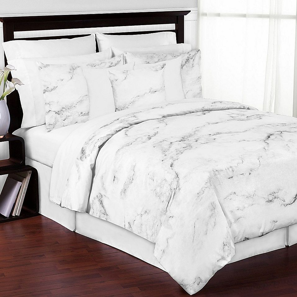 Sweet Jojo Designs Marble 3 Piece Full Queen Comforter Set In