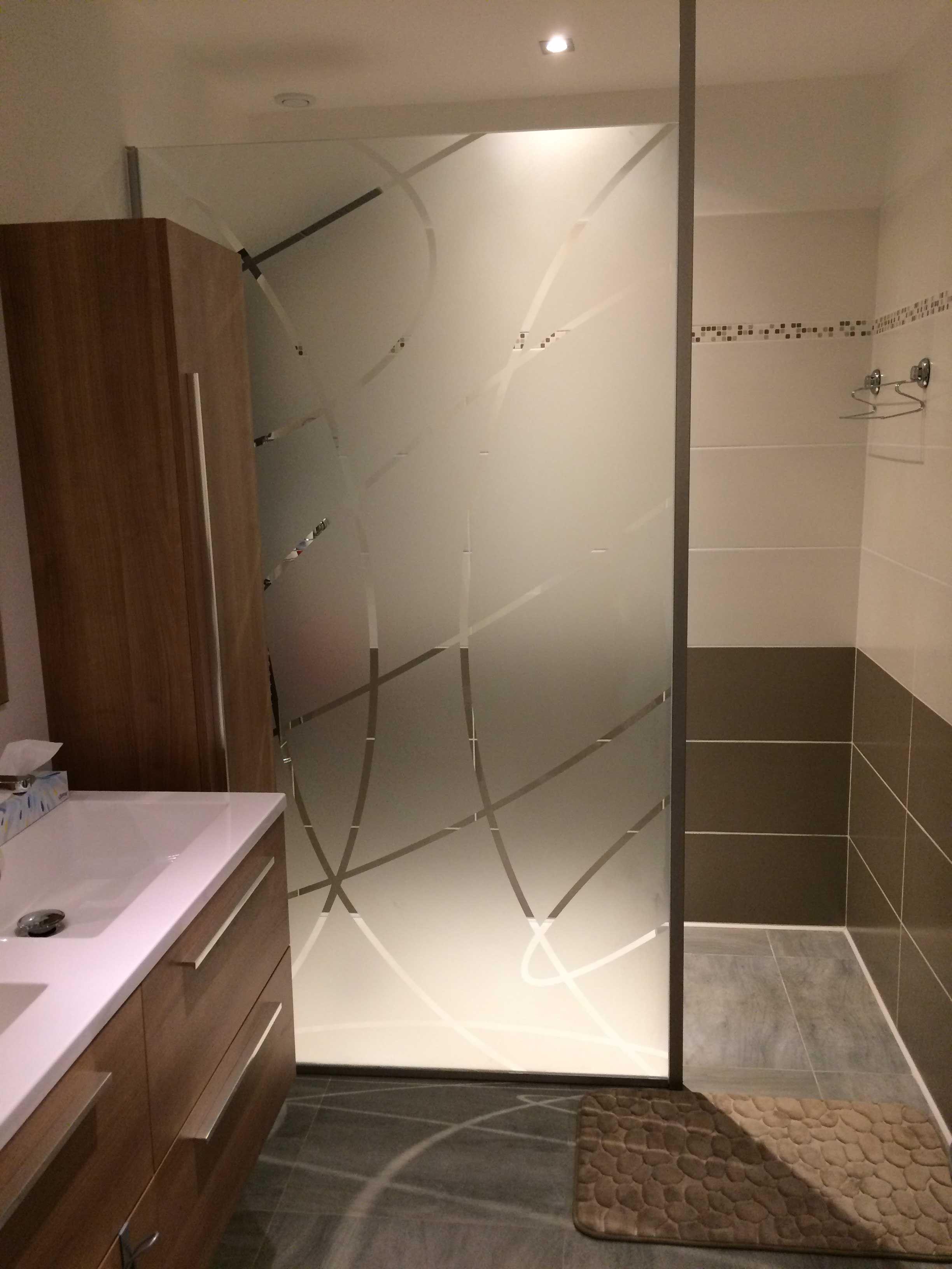 paroi de douche douche en verre