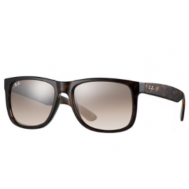 aac44050de Ray Ban RB4165 Justin  Collection sunglasses – Tortoise Frame   Brown Silver  Gradient Mirror Lens
