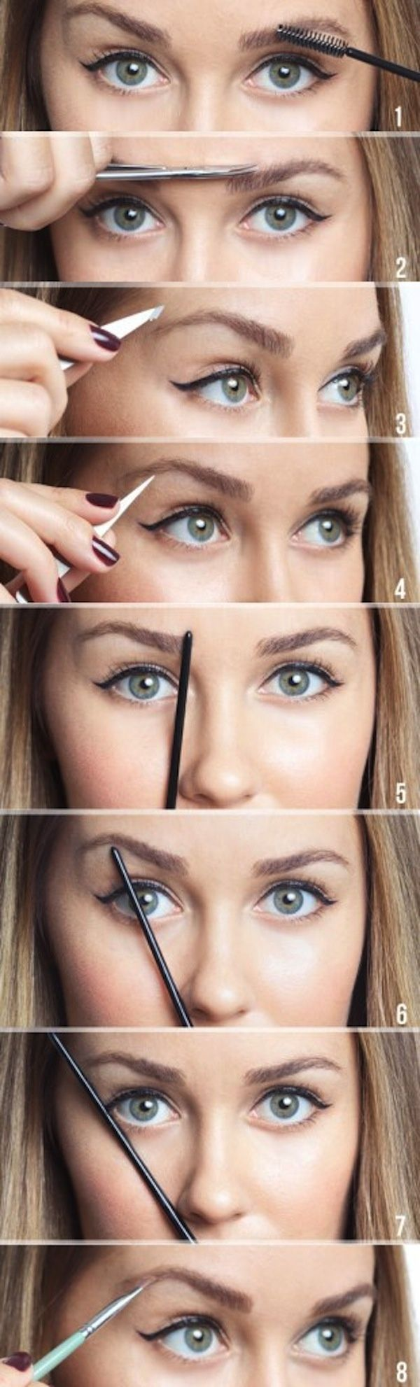 How to shape your eyebrows. Once mine grow back in, I have ...