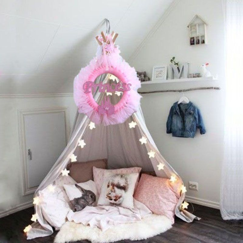 1 pcs baby room decor pink or blue princess castle ring yarn decor birthday party baby
