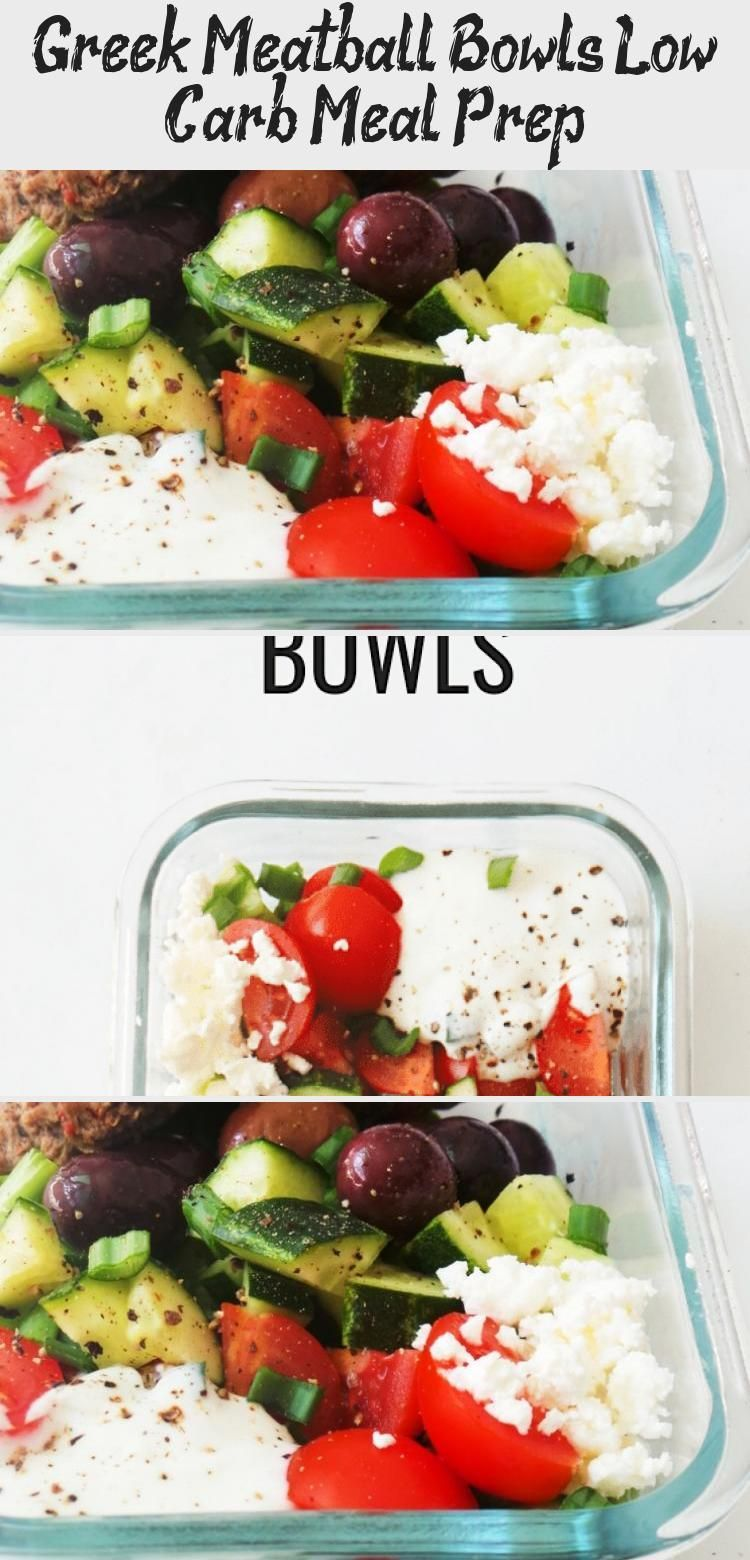 Greek Meatball Bowls Low Carb Meal Prep  HalfHuman HalfMom If you are doing sports and paying attention to what you eat to have a healthy body you should definitely note...