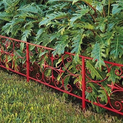 Substantial Scroll Garden Edging Traditional Fencing, Very Nice, Gives  Color Where There Isnu0027