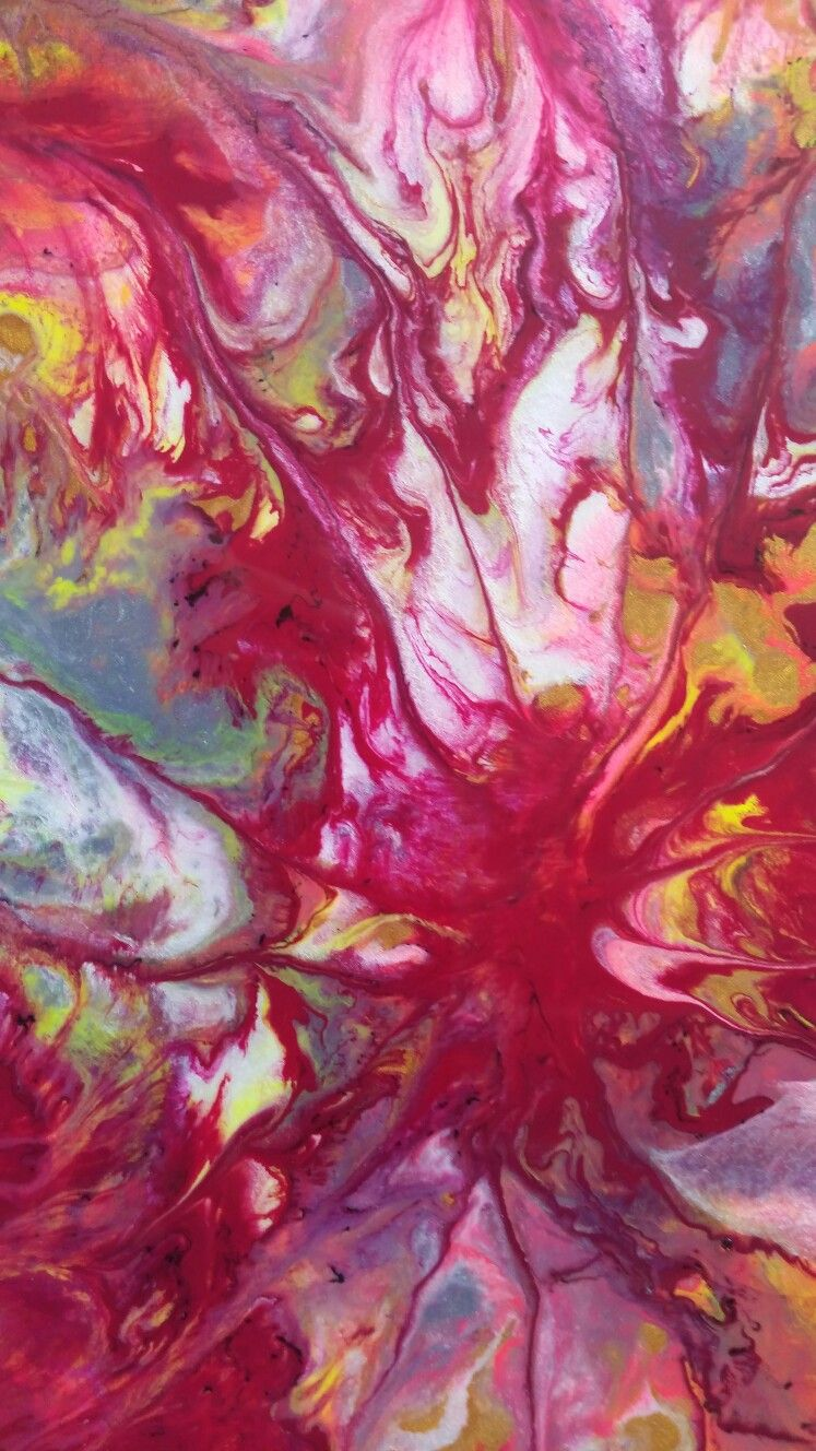 Close Up Of My Latest Abstract Painting Paint Still Wet Traceyleeartdesigns