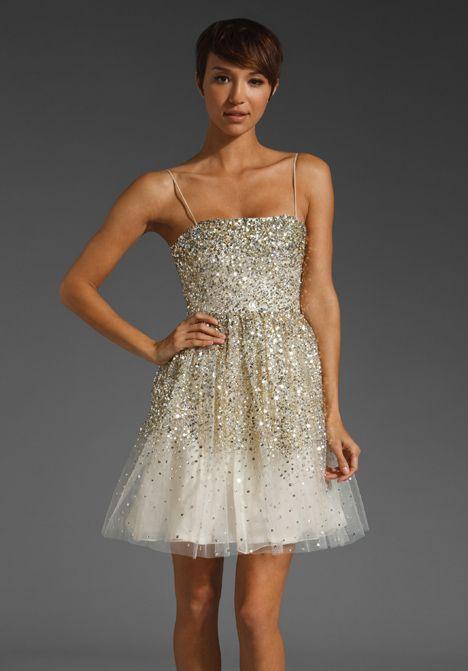 ALICE + OLIVIA Tallulah Princess Dress in Gold at Revolve Clothing ...
